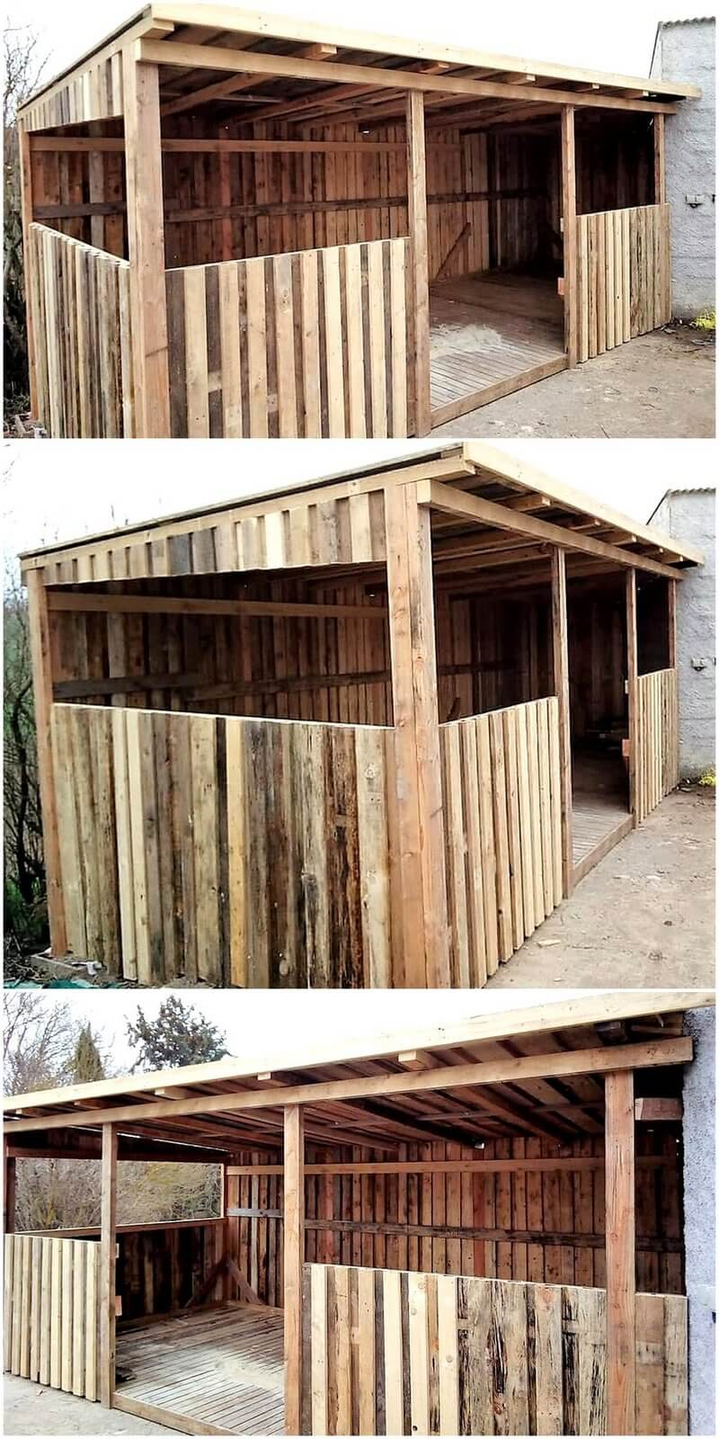 Pallets Made Garden Shed