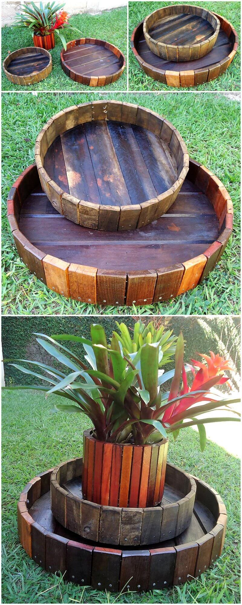 creative pallet planter art