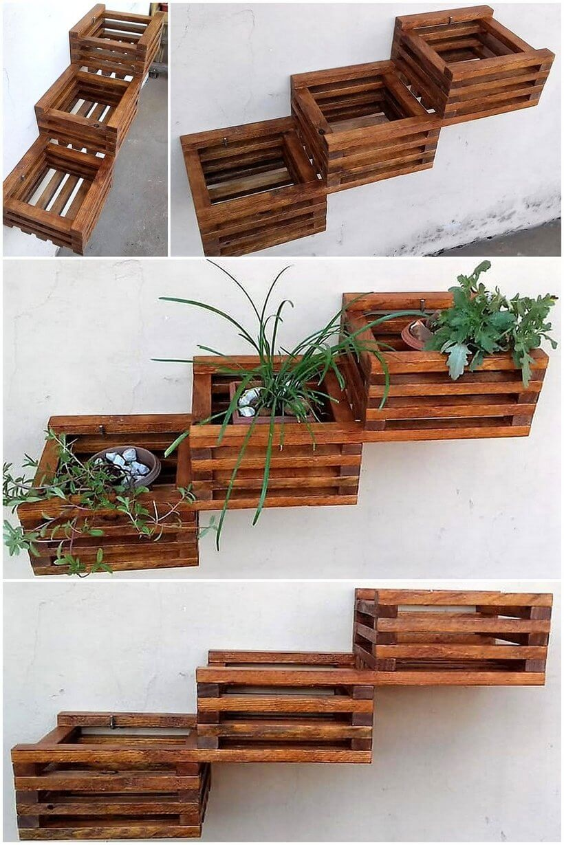 creative pallet wall planter