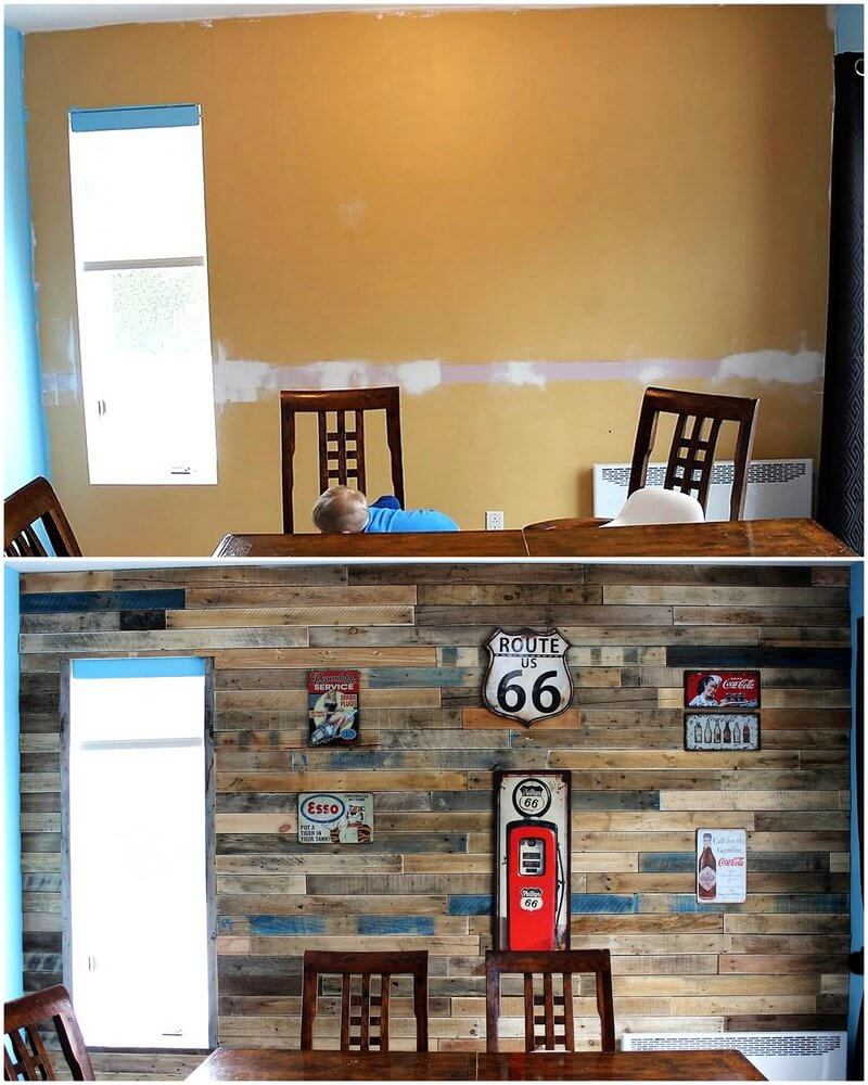 diy wood pallet wall art