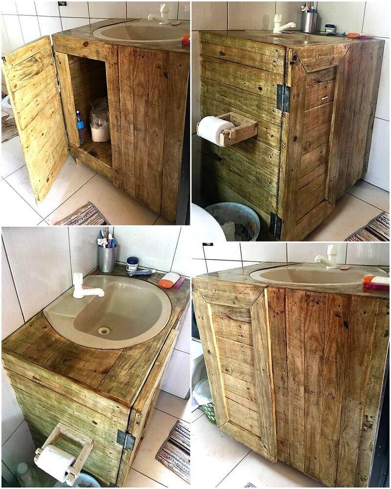 pallet bathroom sink idea