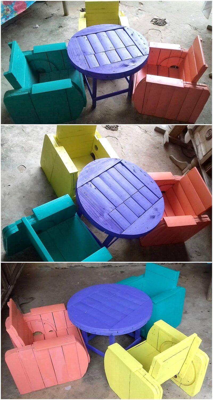 pallet cable reel patio furniture set