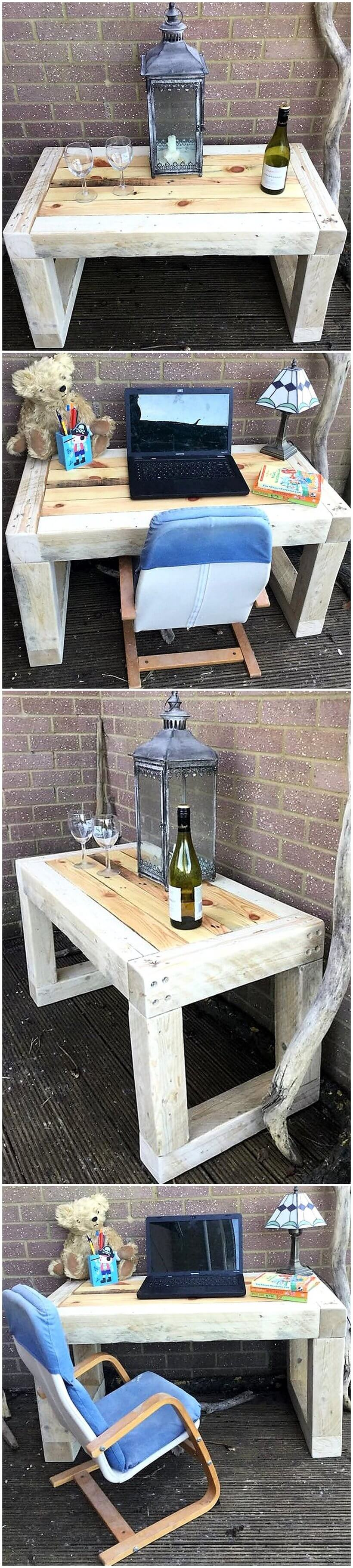 pallet coffee table or a child desk