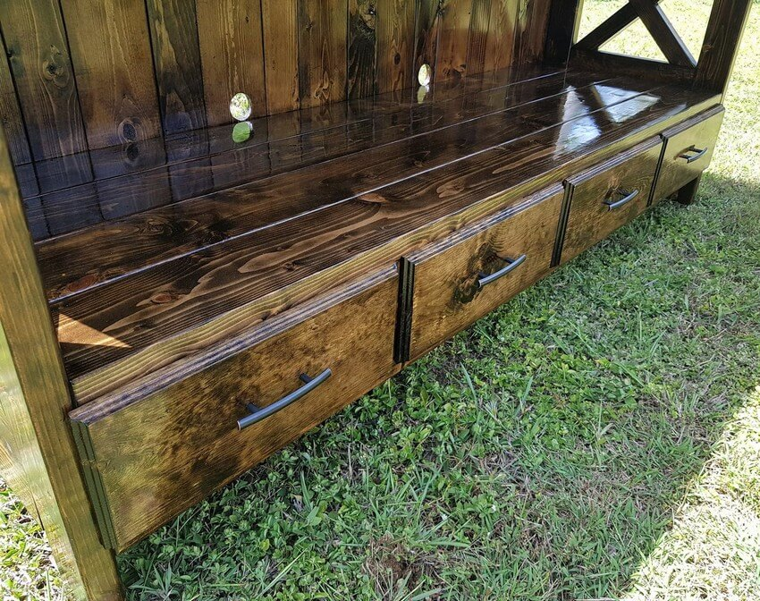 pallet entertainment center drawers