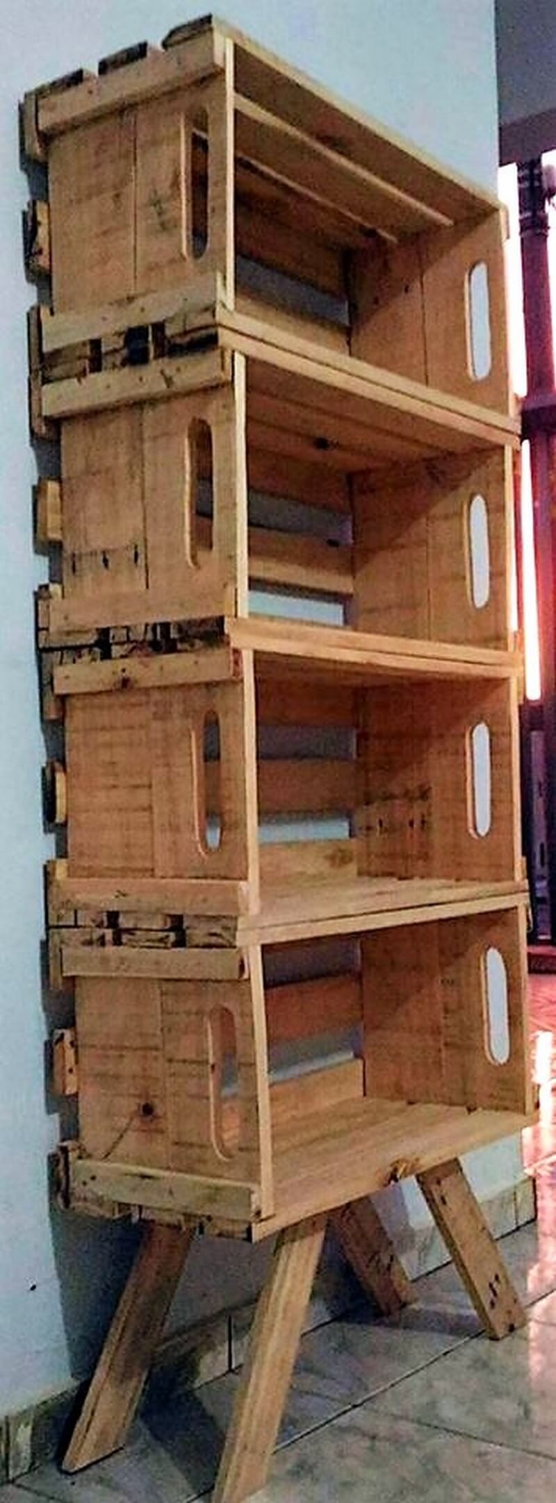 pallet fruit crates shelving