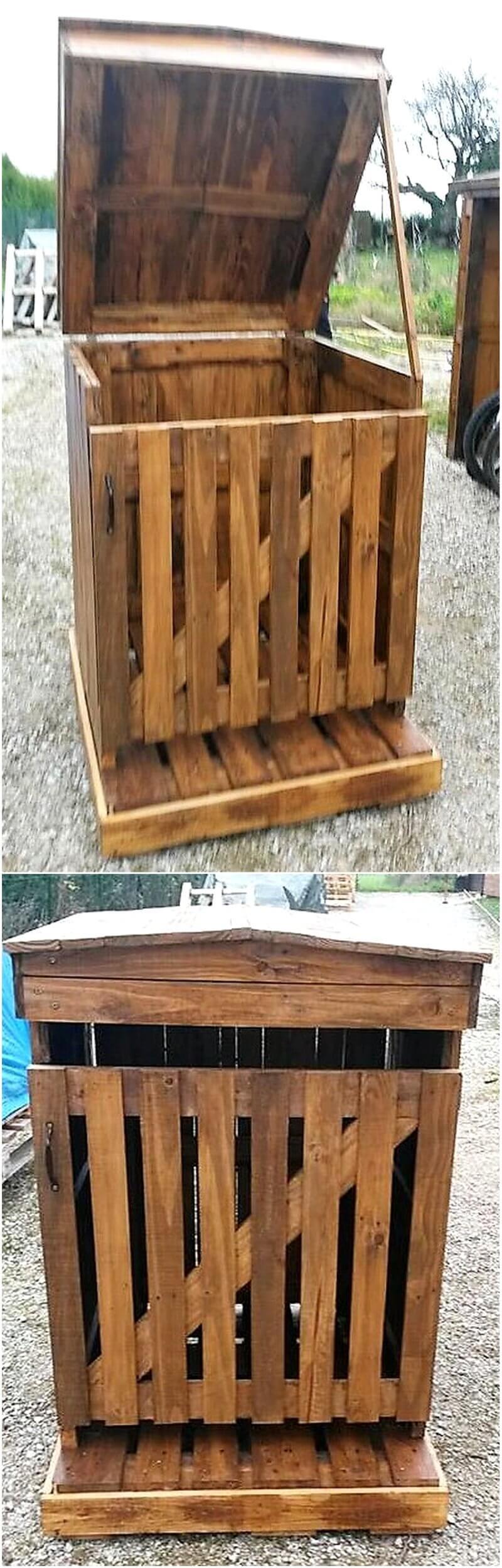 pallet garbage storage cabinet