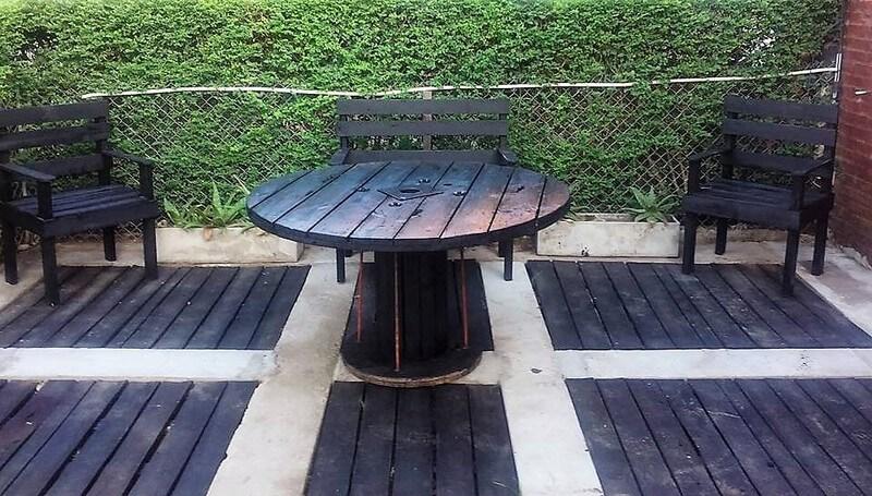 pallet garden deck and furniture
