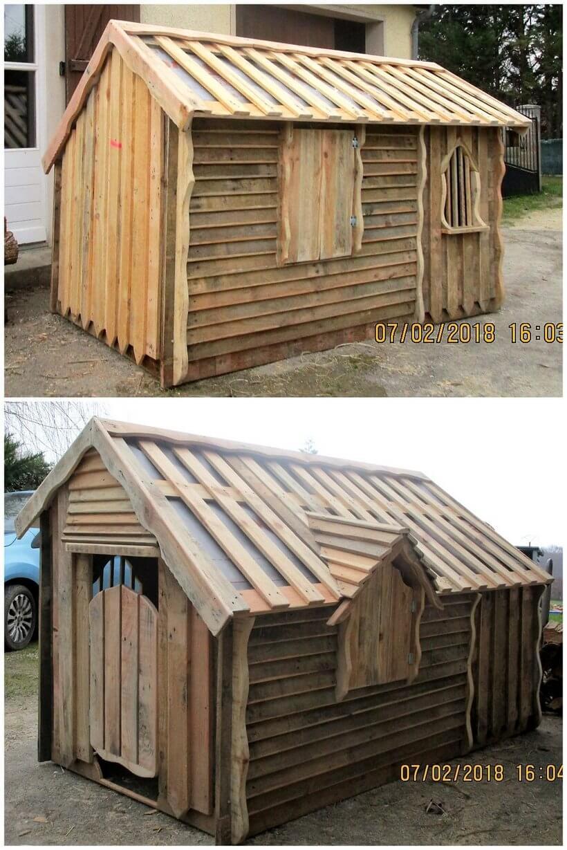 pallet hut for kids