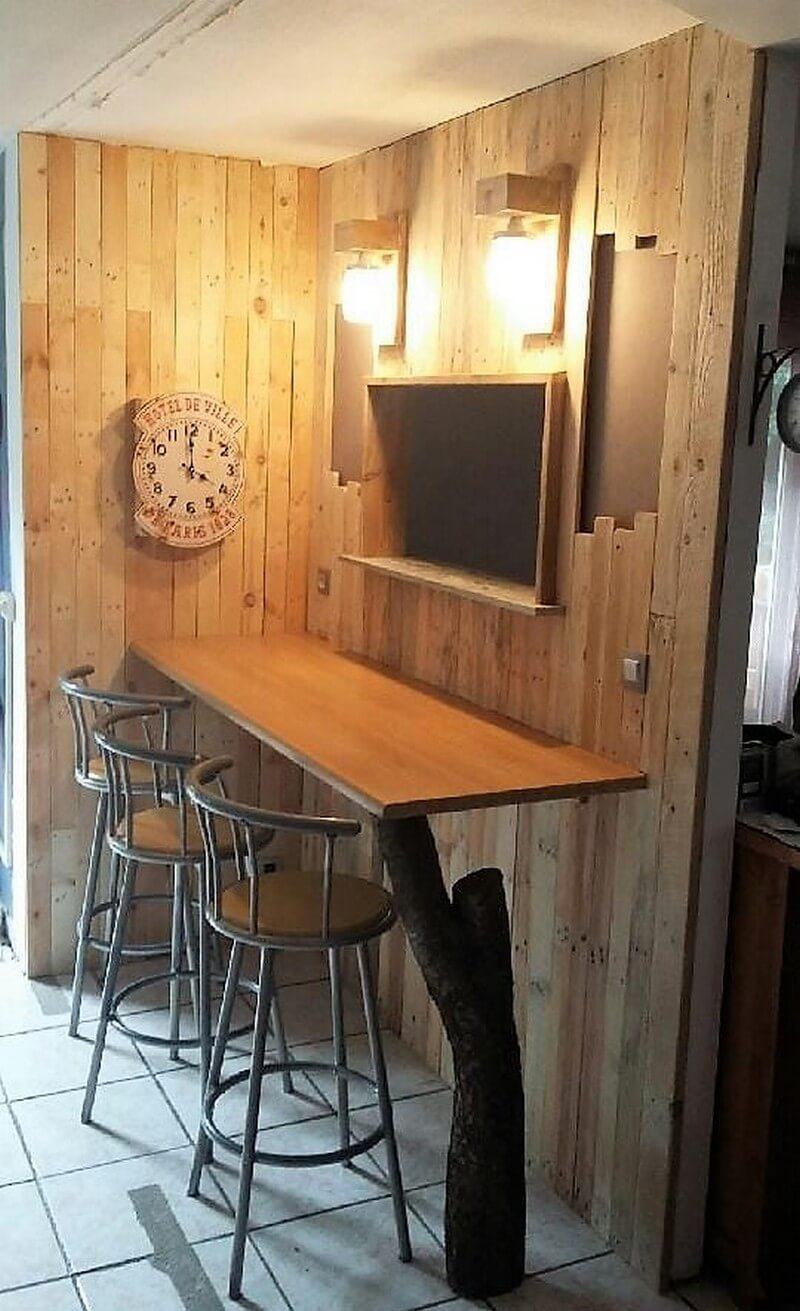 pallet kitchen corner idea