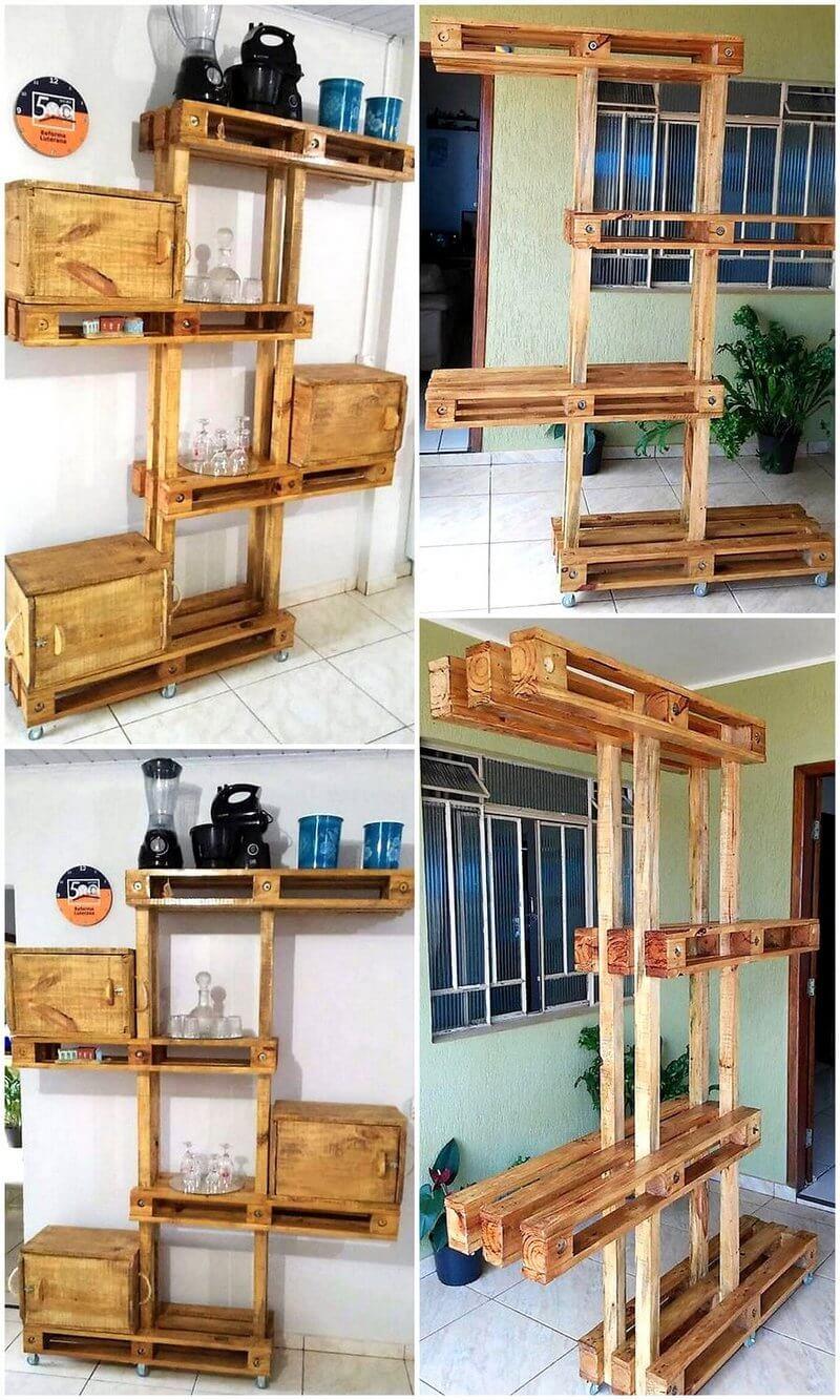 pallet kitchen shelves tree