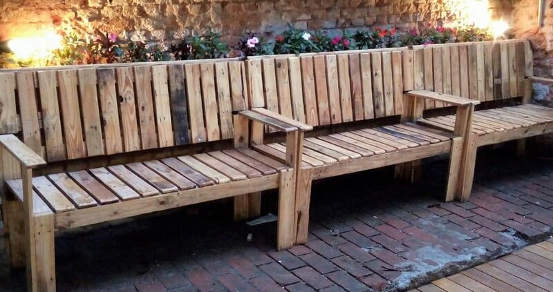 pallet patio bench plan