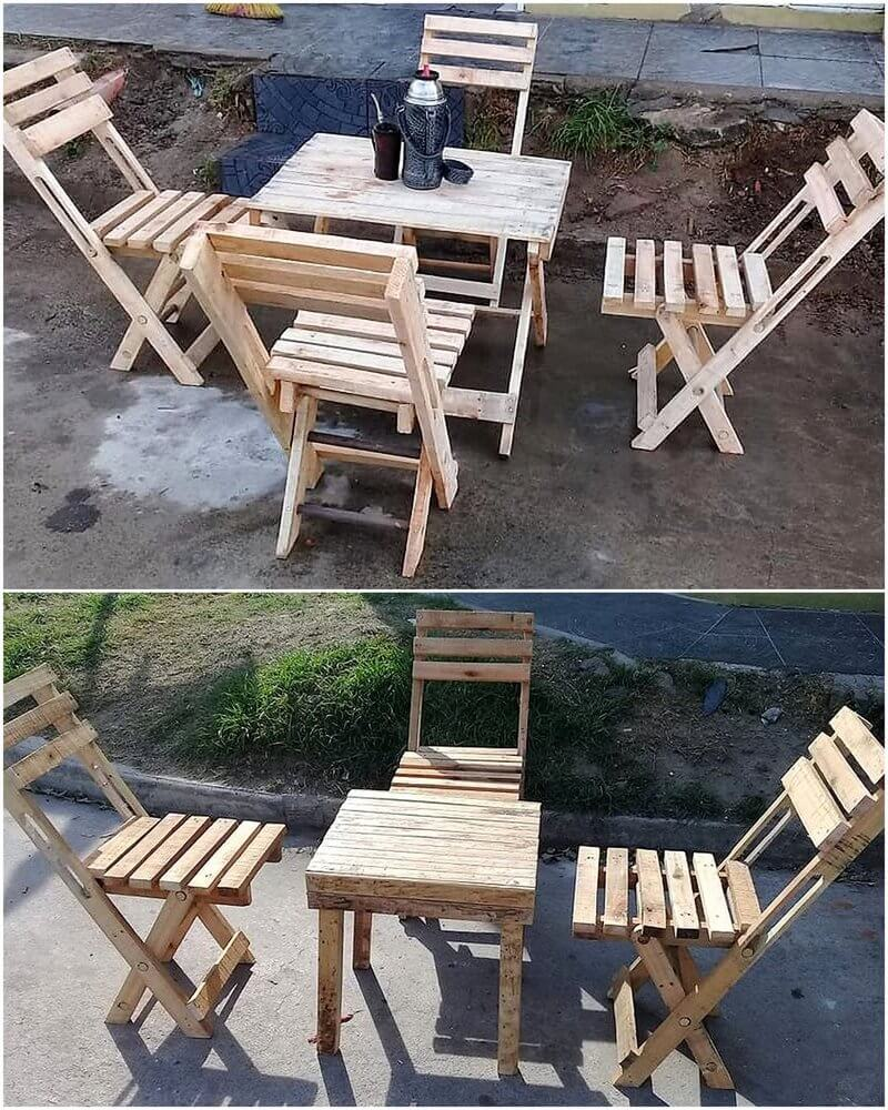 pallet patio chair set