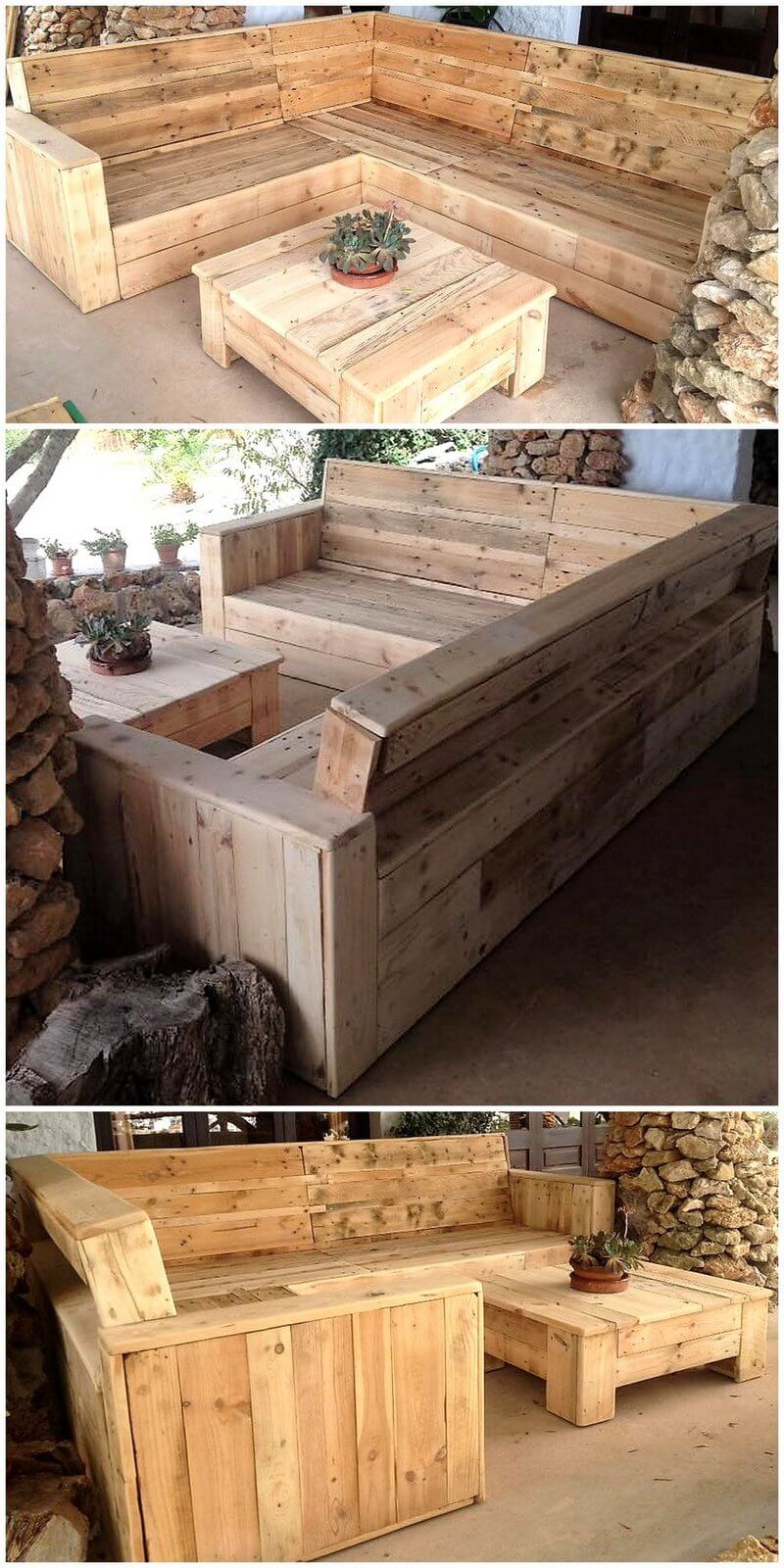 pallet patio lounge couch