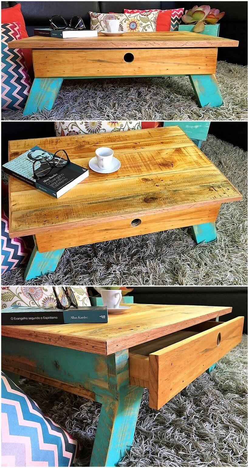 pallet rustic coffee table plan