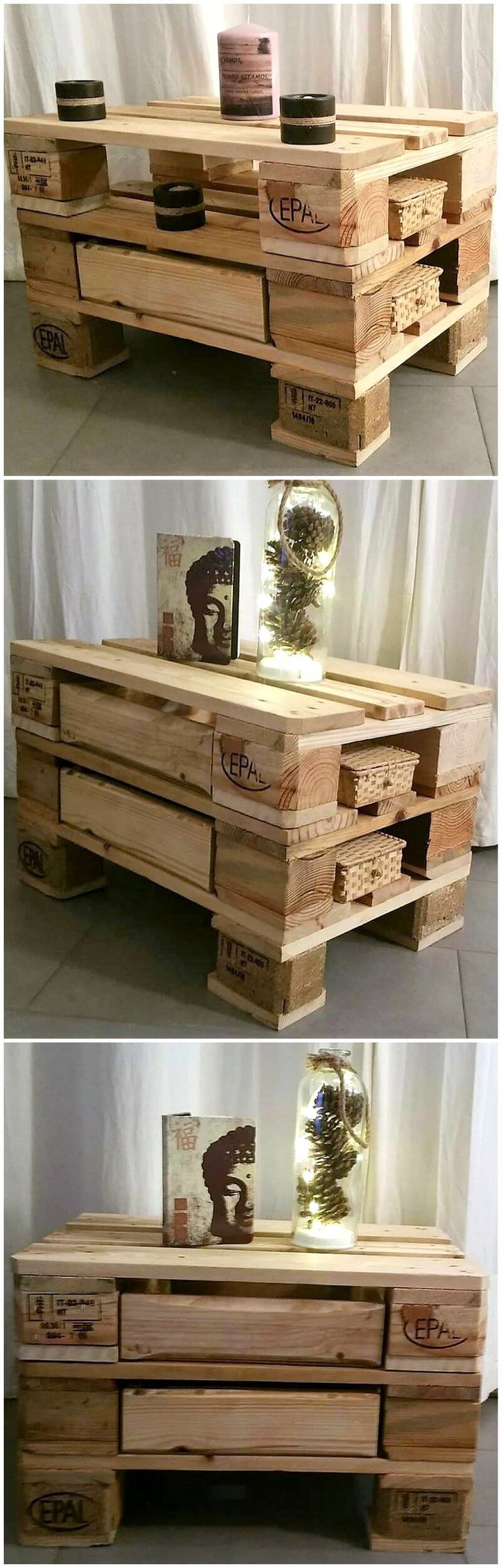 pallet side table plan