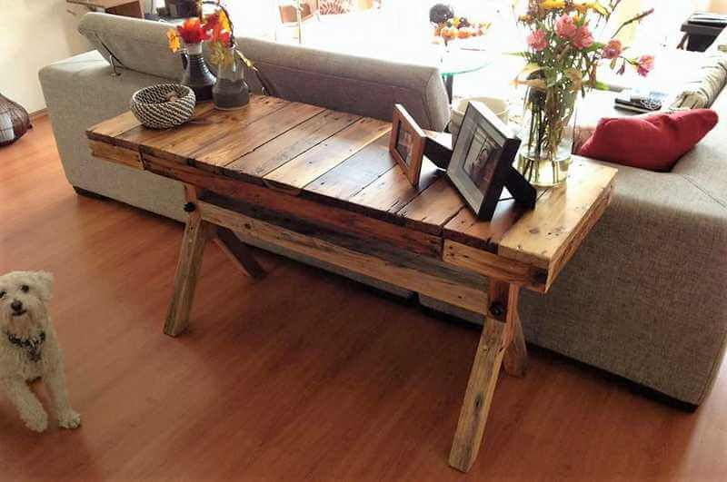 pallet sofa side table