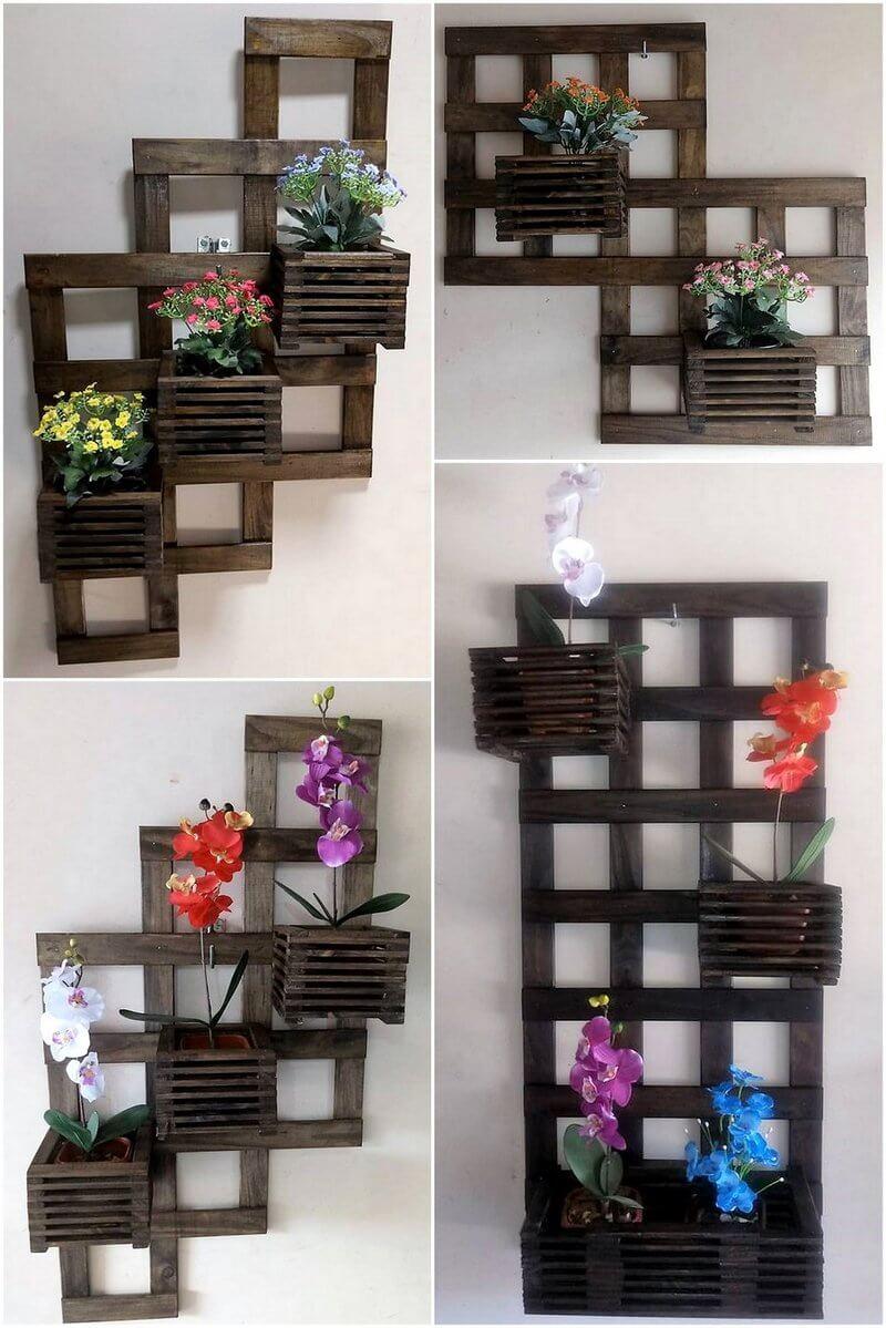 pallet verticle planter art