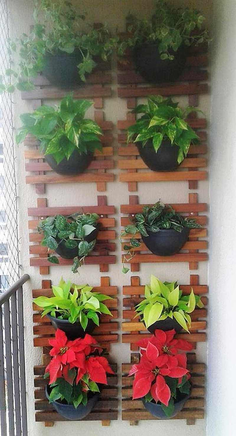 pallet verticle planter art