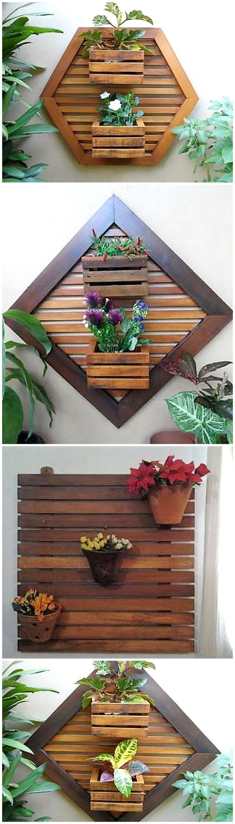 pallet wall decor planter art