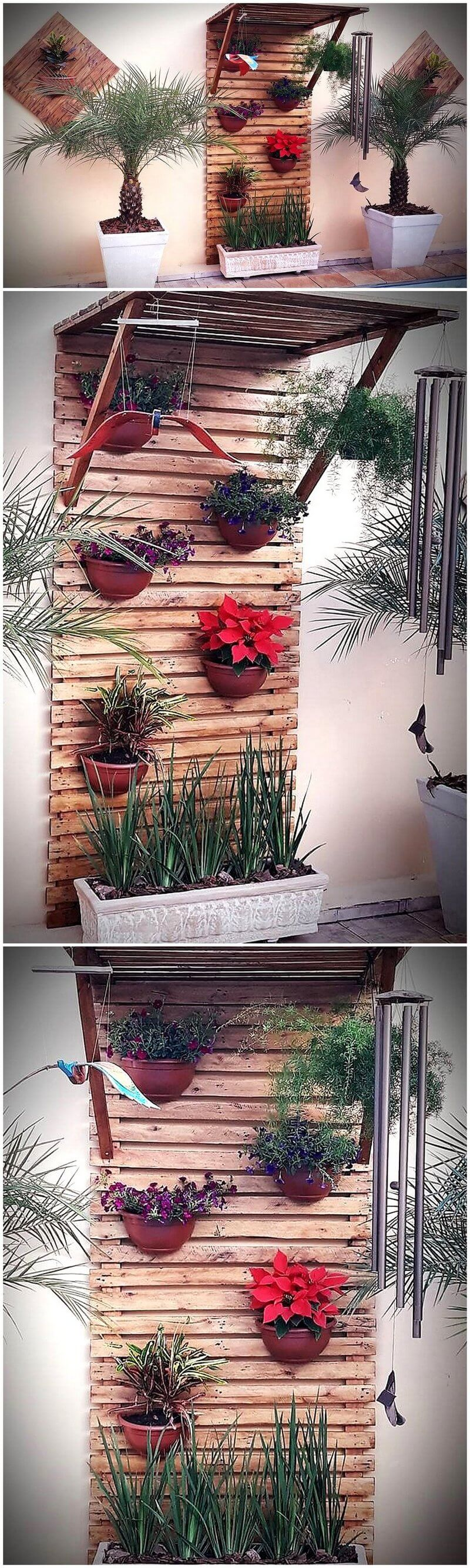 pallet wall planter art