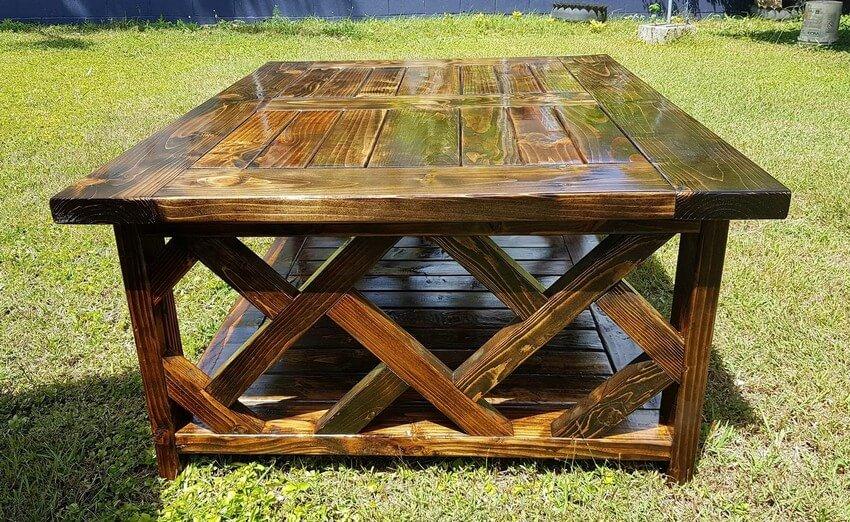 pallet xl coffee table plan
