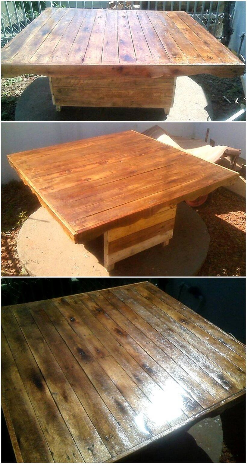 pallet xl coffee table projects
