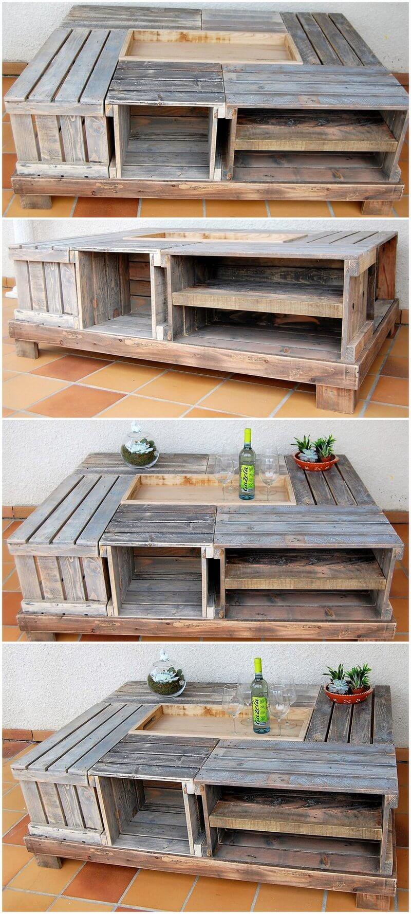 pallets fruit crates table plan