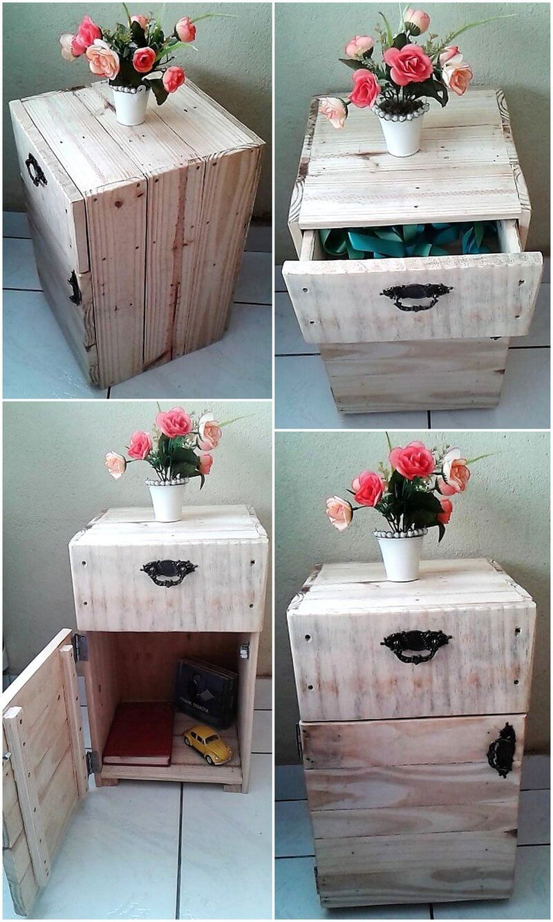 pallets made nightstand