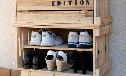 Repurposed Wood Pallets Made Shoe Rack Plan
