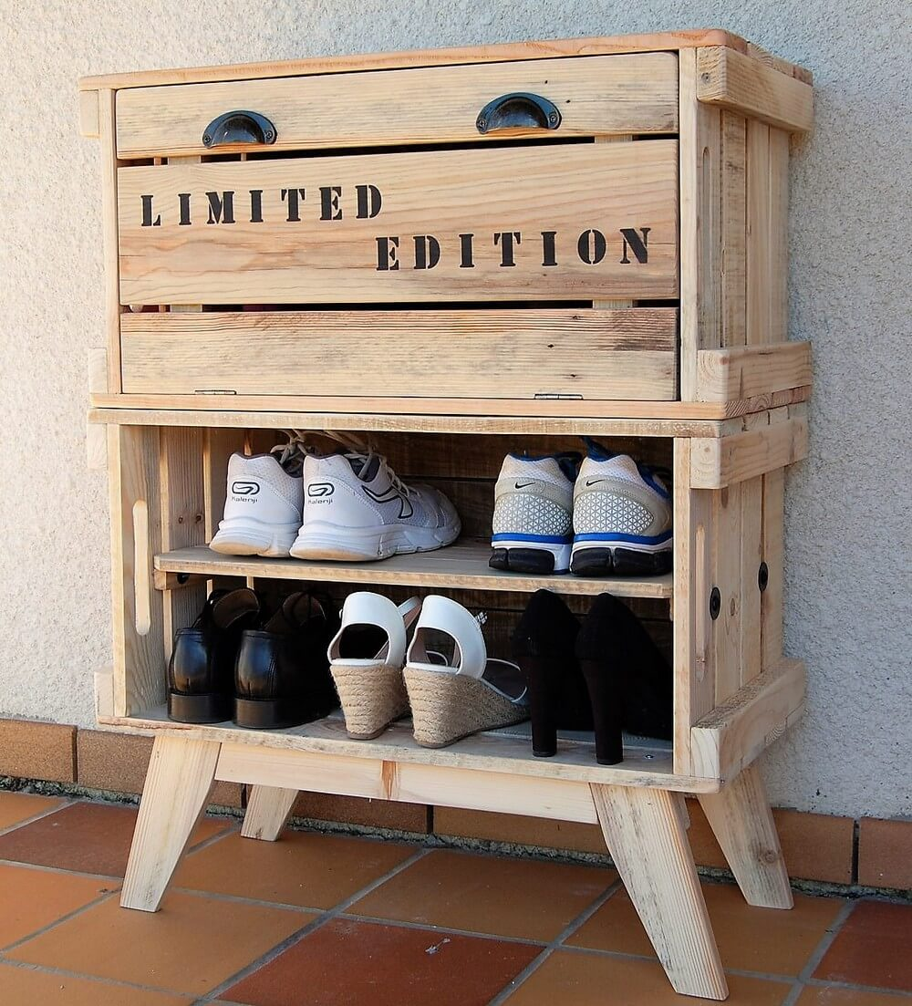 Pallets Shoe Rack Idea