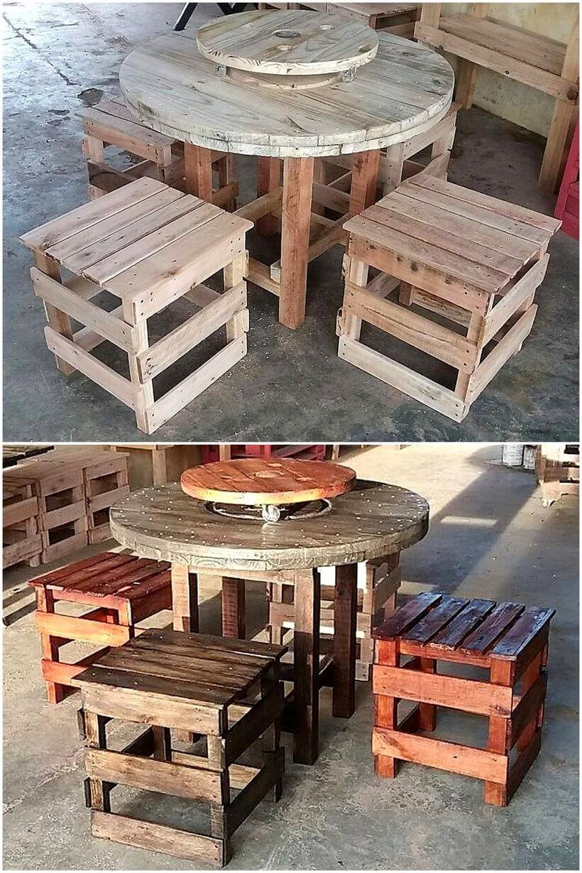 pallets wooden furniture plan