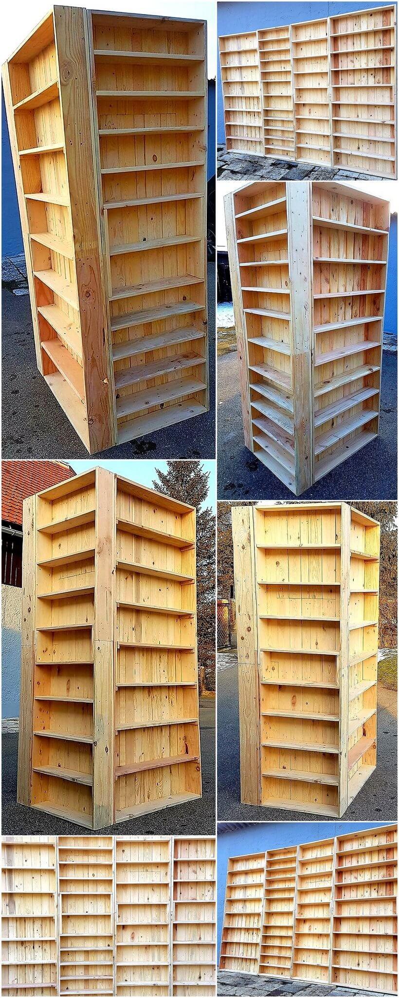 pallets wooden shelf rack