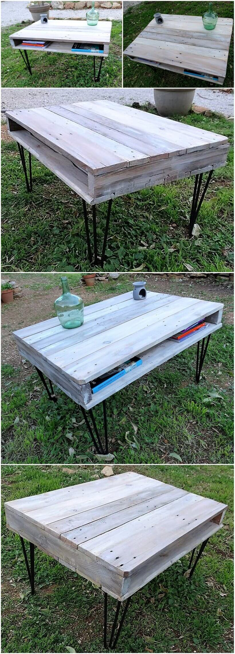 reclaimed wood pallet bench. Reclaimed Wood Pallet Garden Table Bench