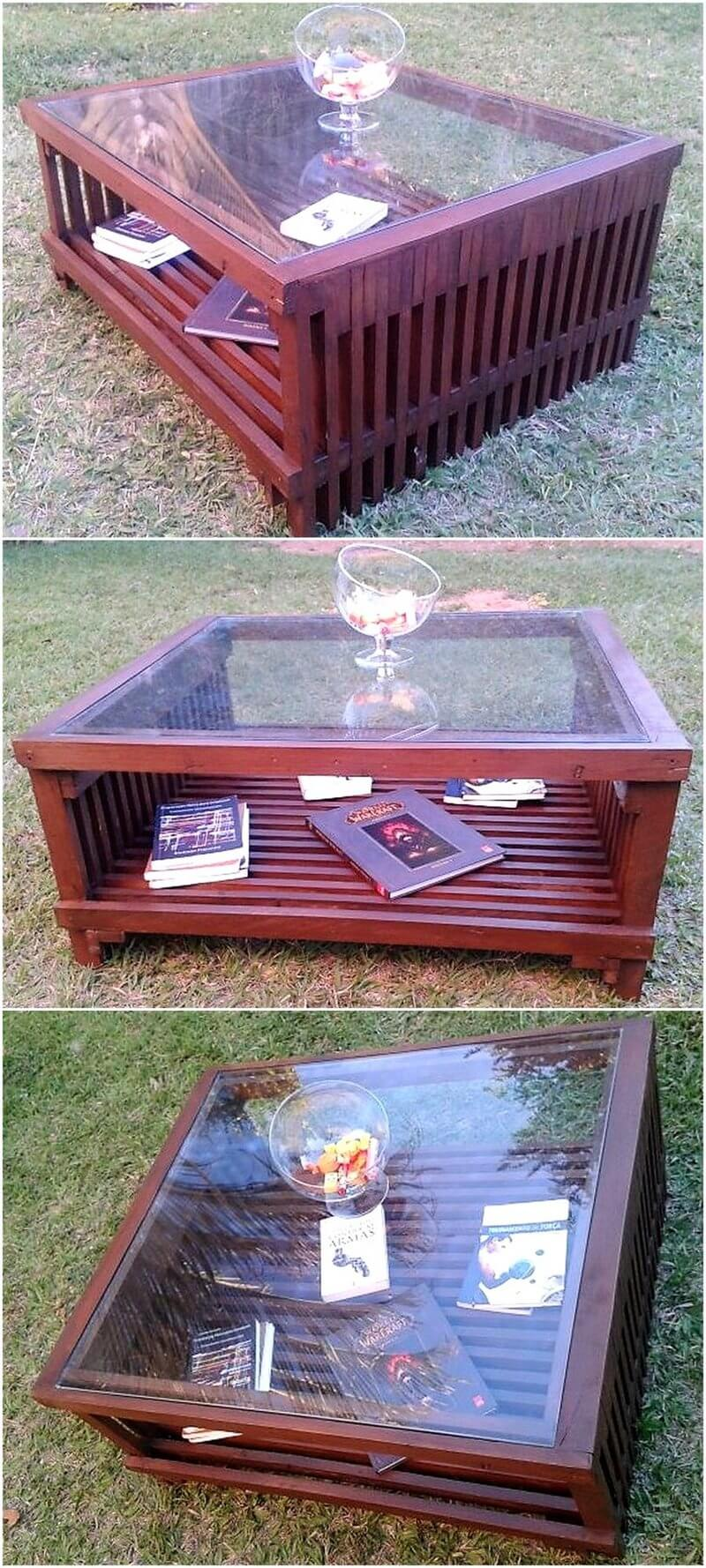 recycled pallet table idea