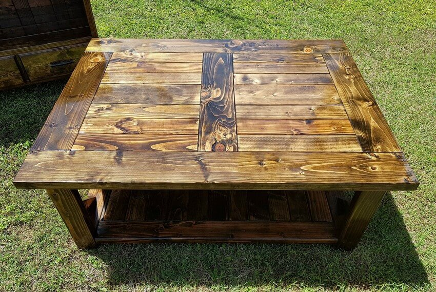 recycled pallet xl coffee table