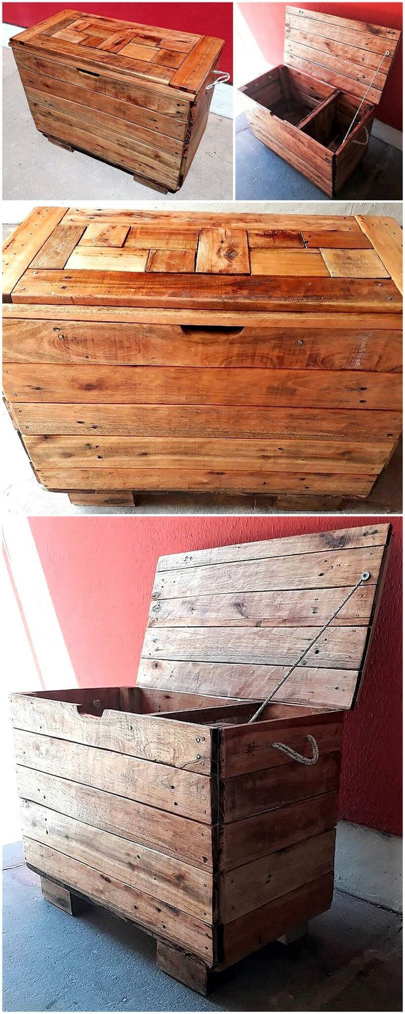 recycled pallets chest