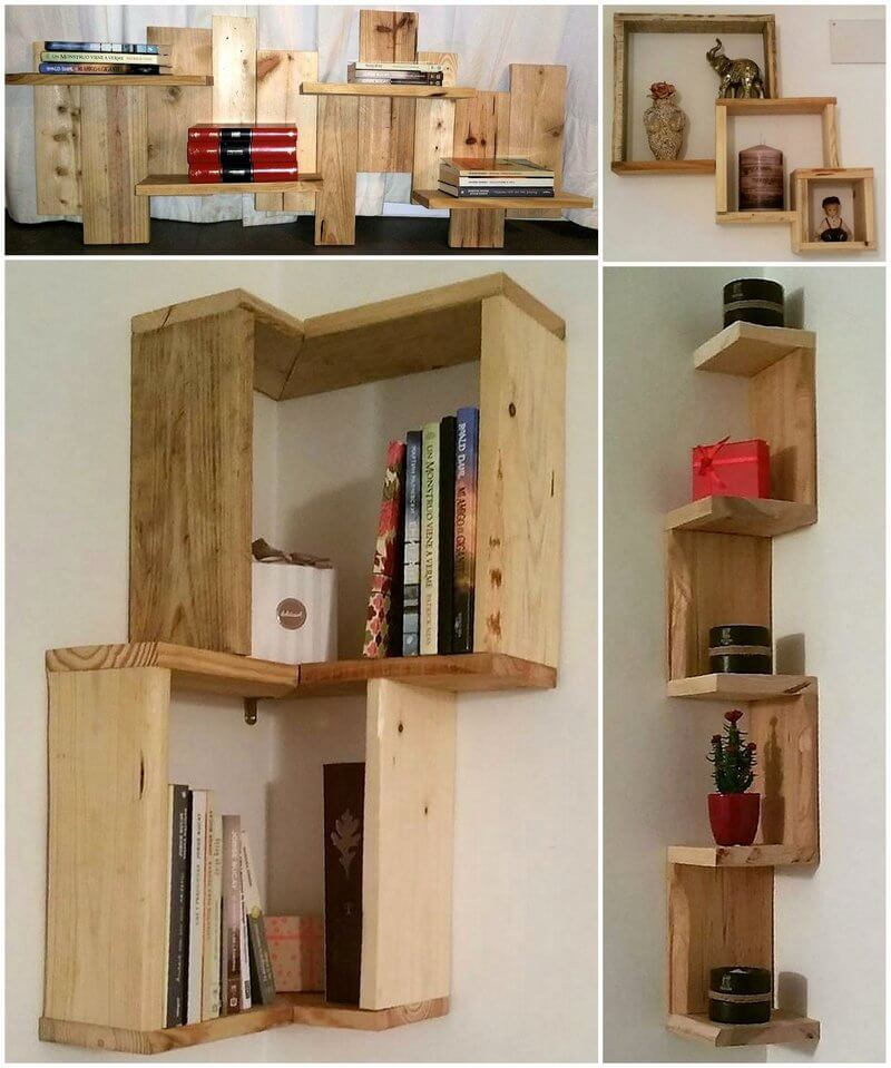 repurposed pallets shelving ideas
