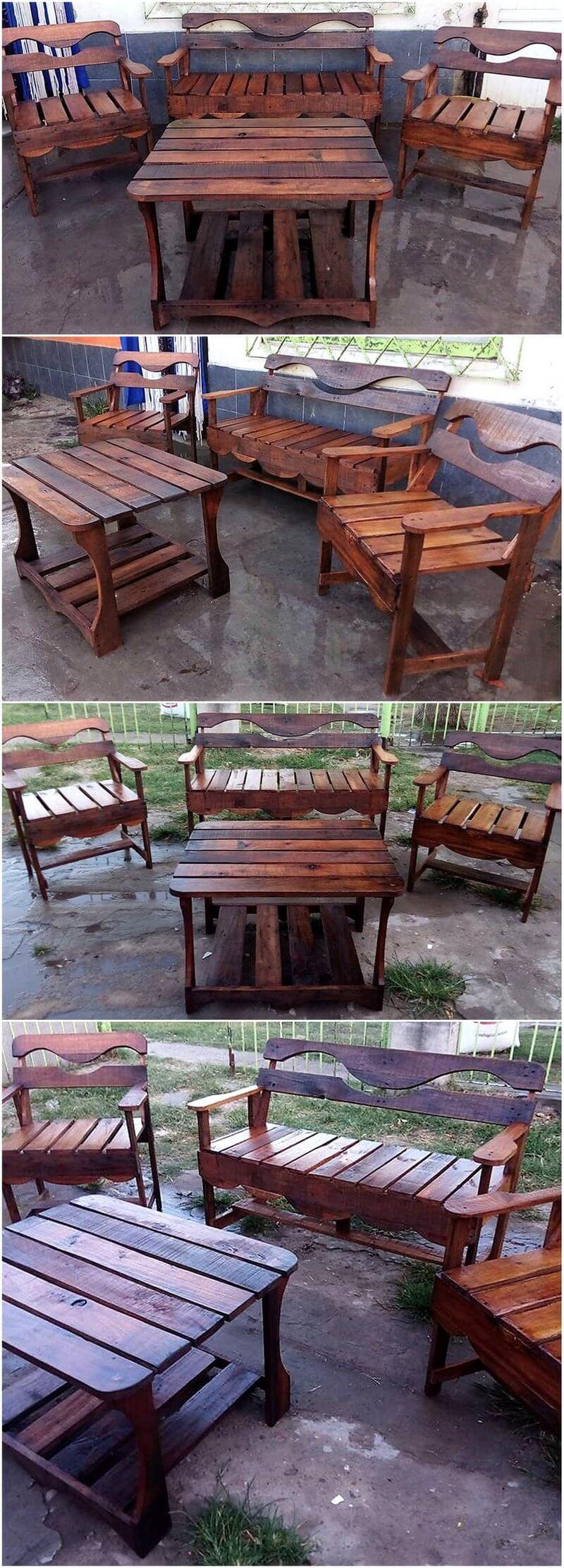 repurposed wood pallets furniture
