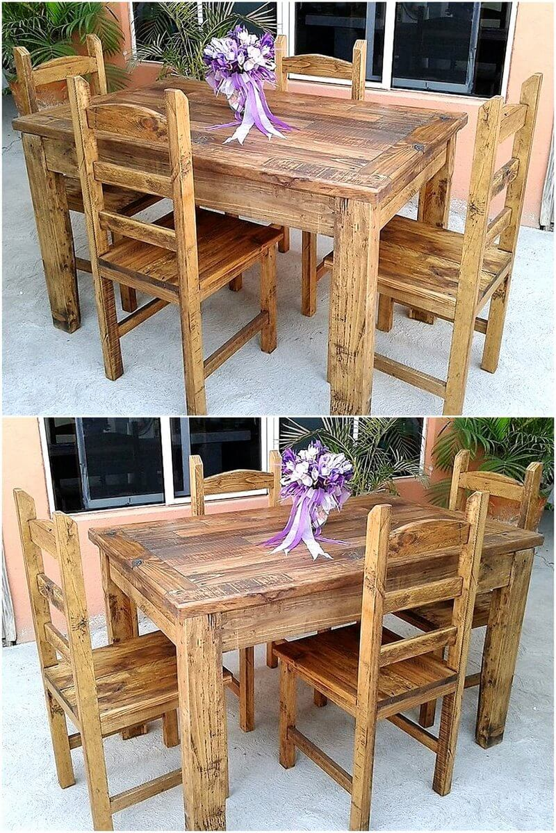 rustic pallet outdoor dining set