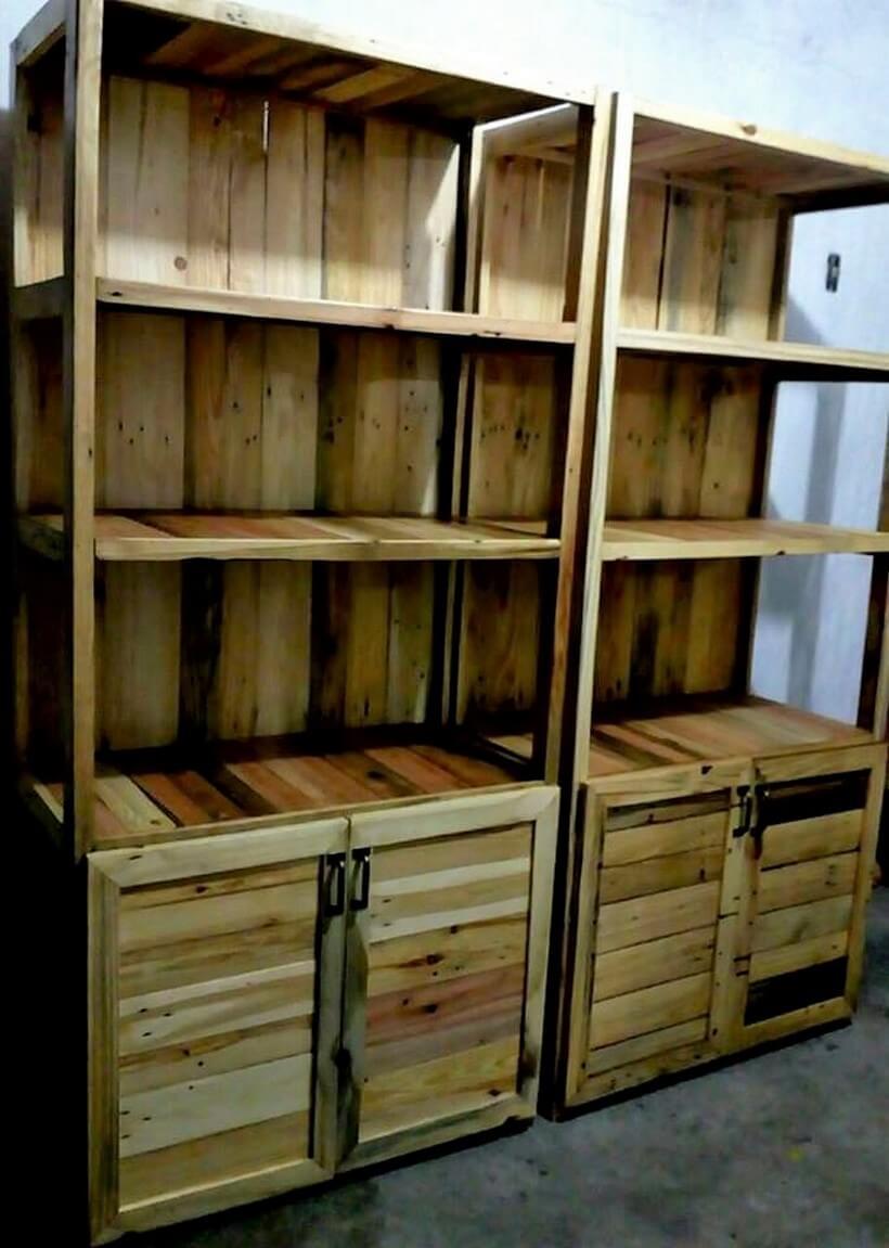 wood pallet dressing wardrobe