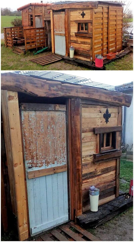 wood pallet garden shed