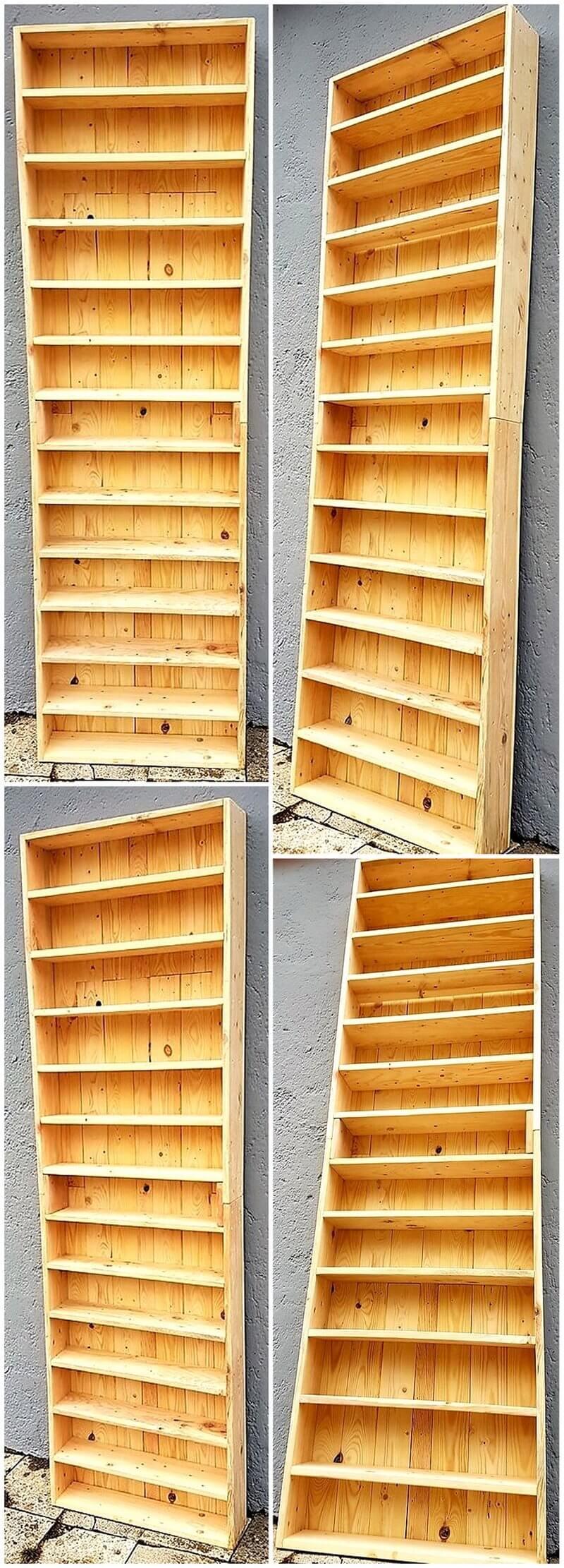 wood pallet giant shelf plan