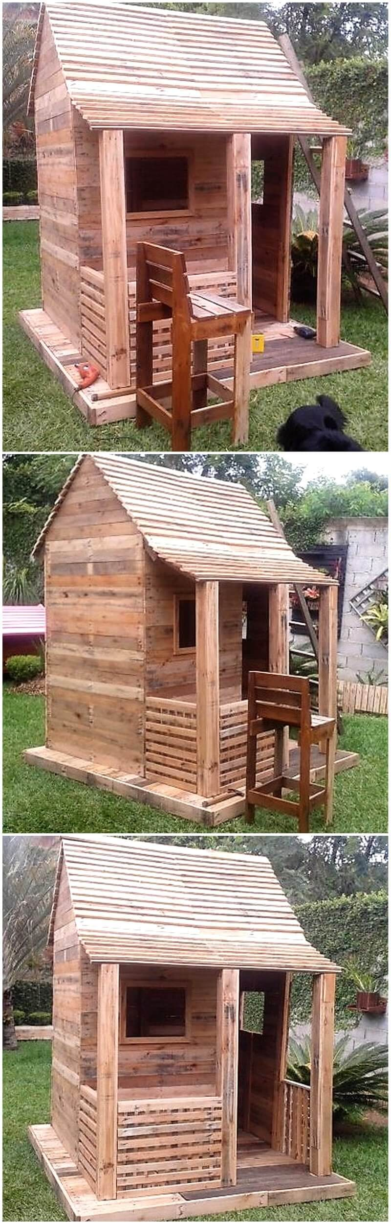 wood pallet kids playhouse