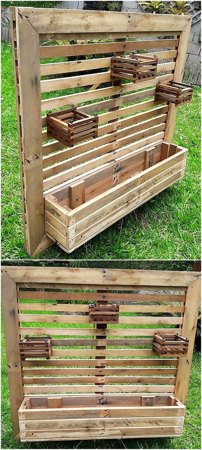 wood pallet pots stand