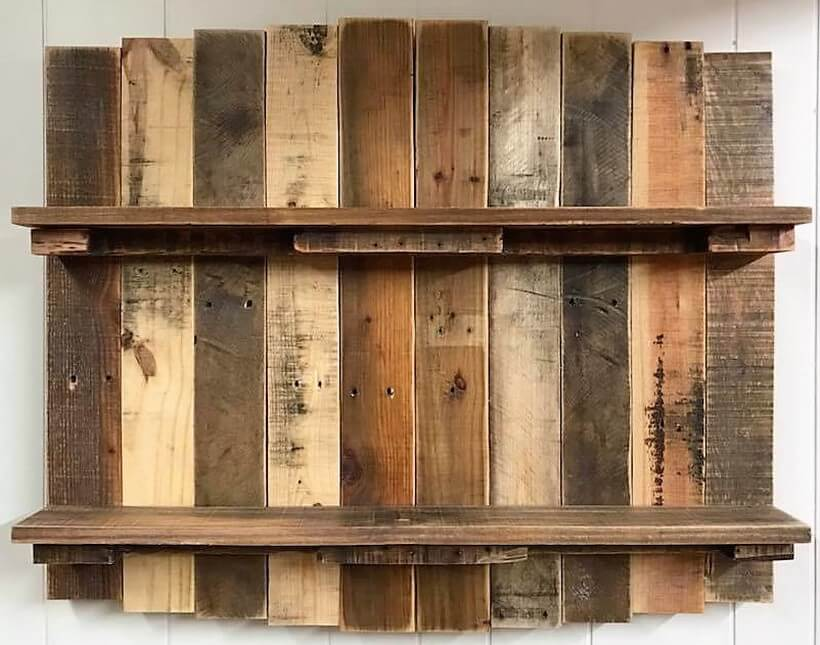 wood pallet rustic shelf plan