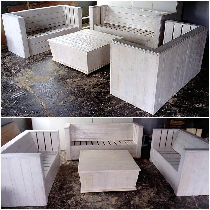 wood pallet sofa set