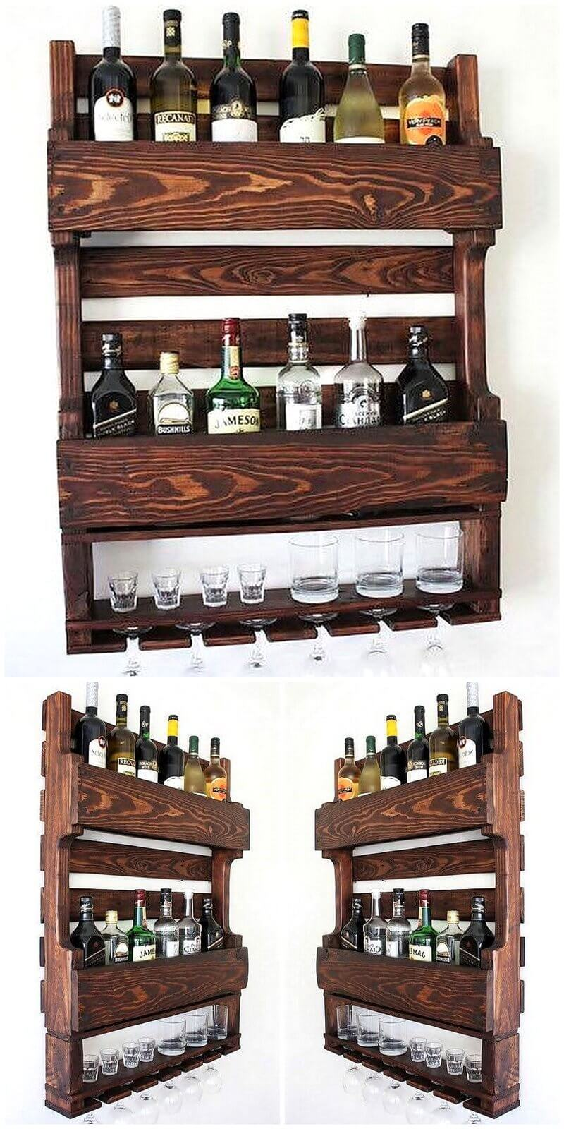 wood pallet wall bar