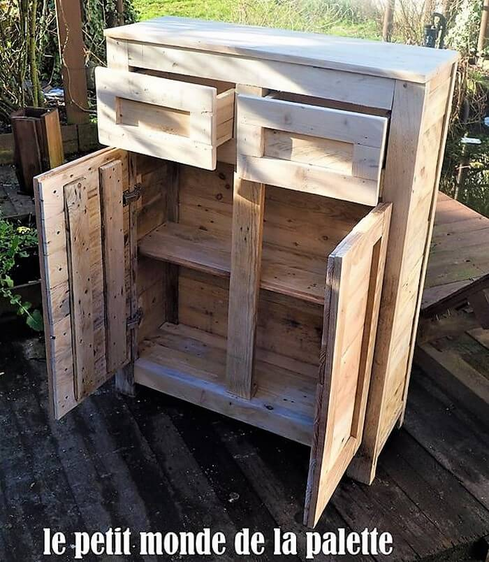 wooden pallet bathroom closet