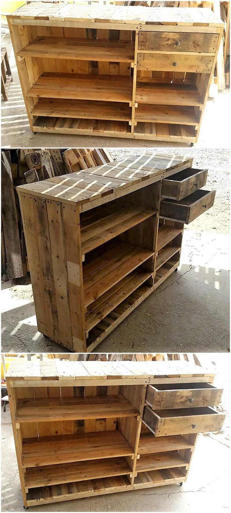 wooden pallet counter idea