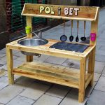 Cute Kids Mud Kitchen Out of Wooden Pallets